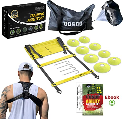 ODDO Agility Ladder Speed Resistance Training Equipment Set