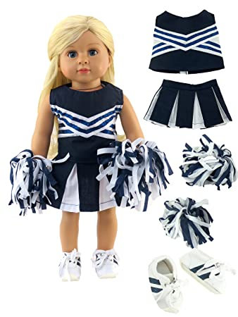 """Blue Cheerleader Outfit Costume for 18/"""" American Girl Doll Clothes"""
