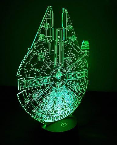 Regalos de Star Wars Millennium Falcon USB LED noche luz ...