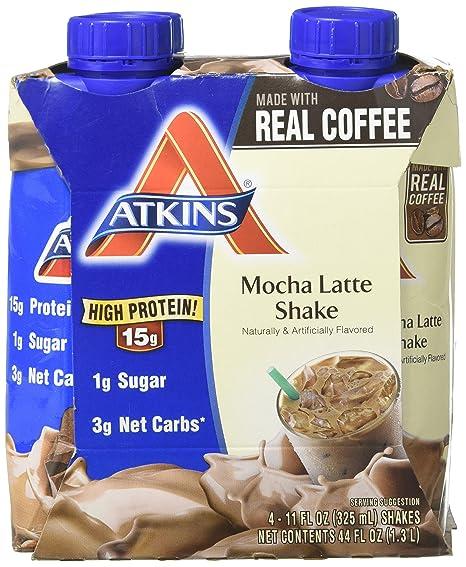 Amazon.com: Ventaja Shake lc-rtd Mocha Latte Atkins 4pk (11 ...