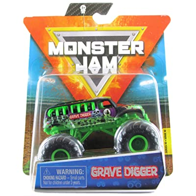 Monster Jam 2020 Spin Master 1:64 Diecast Monster Truck with Wristband: Ride Trucks Grave Digger: Toys & Games