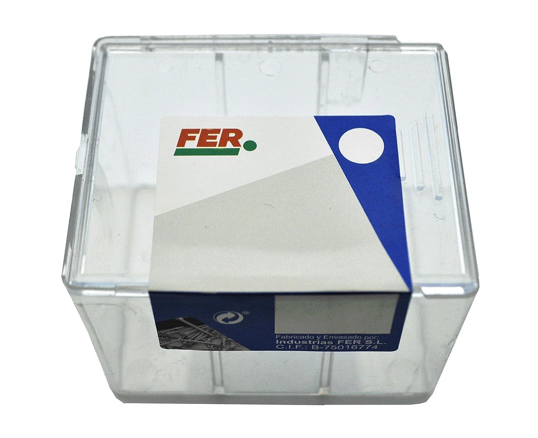 FER 43428 Caja Profesional Pl/ástico Tornillo para Aglomerado Cabeza Plana Pozi 3x30 Bicromatado