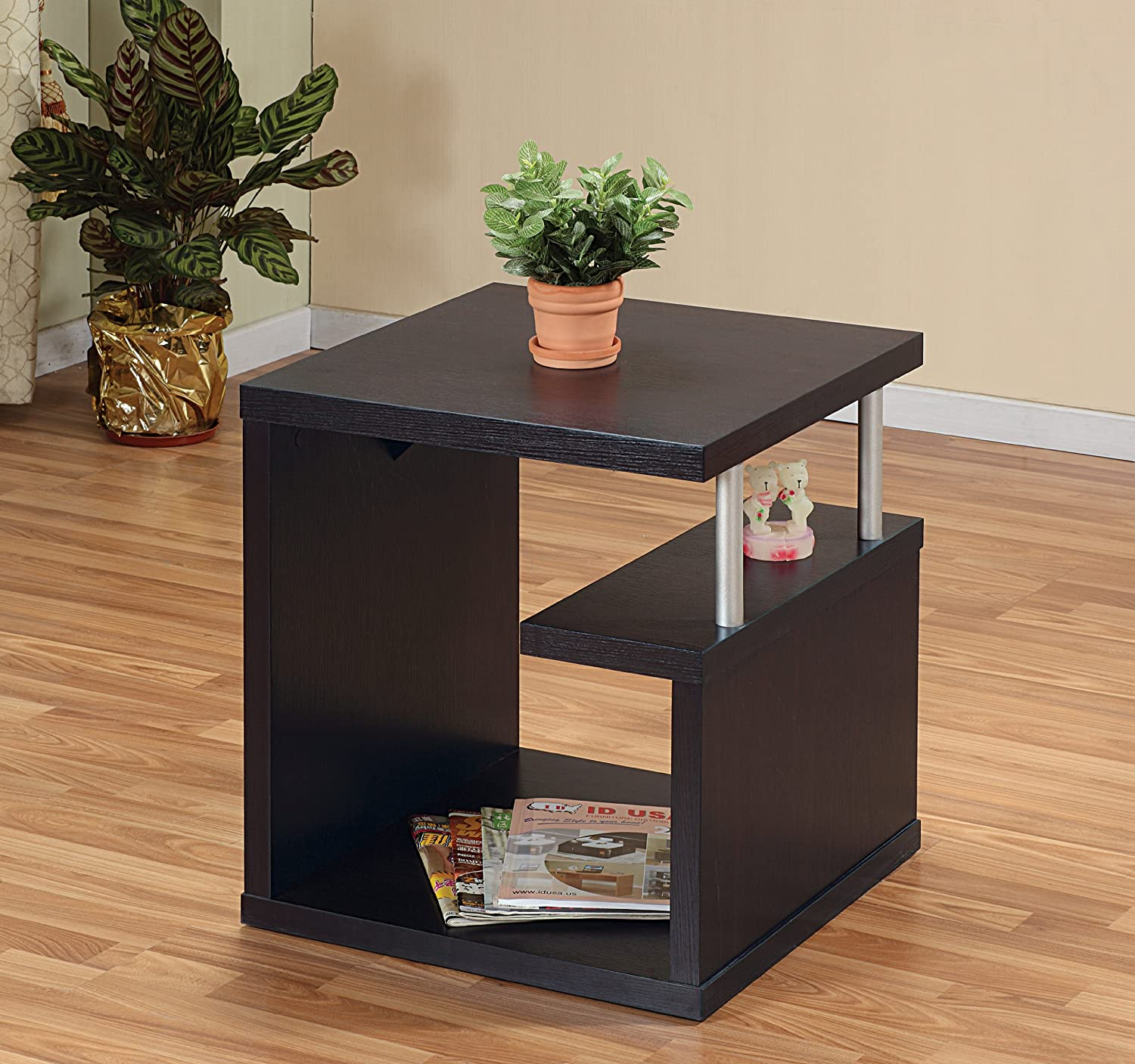 Amazon.com: ioHOMES Level End Table, Espresso: Kitchen & Dining