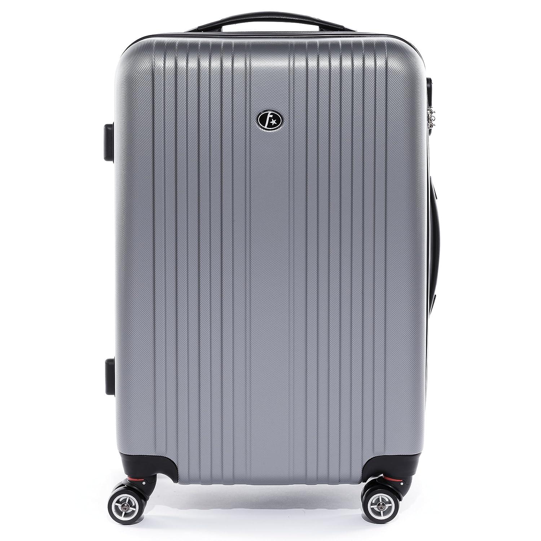 FERG/É/® set 3 valises voyage rigide l/éger TOULOUSE ensemble de bagages trois pc trolley 4 roues roulettes doubles 360 degr/és bagage cabine gris