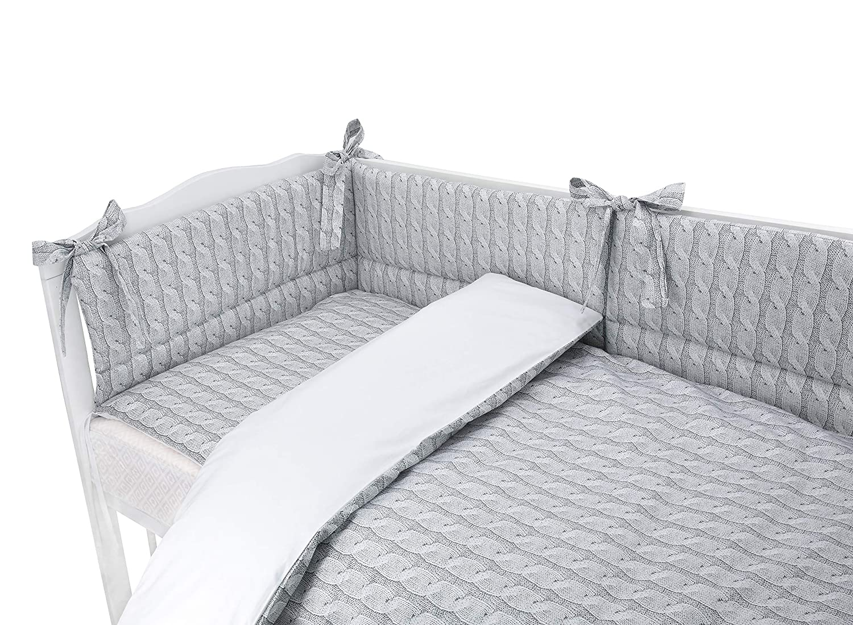 Duvet+Pillow+Duvet Cover+Pillow CASE COT 120X60, Koala-Pink Bumper 5 pc Baby Bedding Set for COT 120X60 OR COT Bed 140X70cm Inc