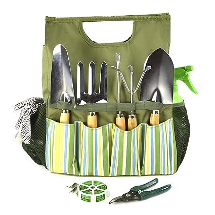 Plant Theatre Bolsa esencial de herramientas de jardín - Incluye  herramientas - Regalo para jardinero b81482ae455d