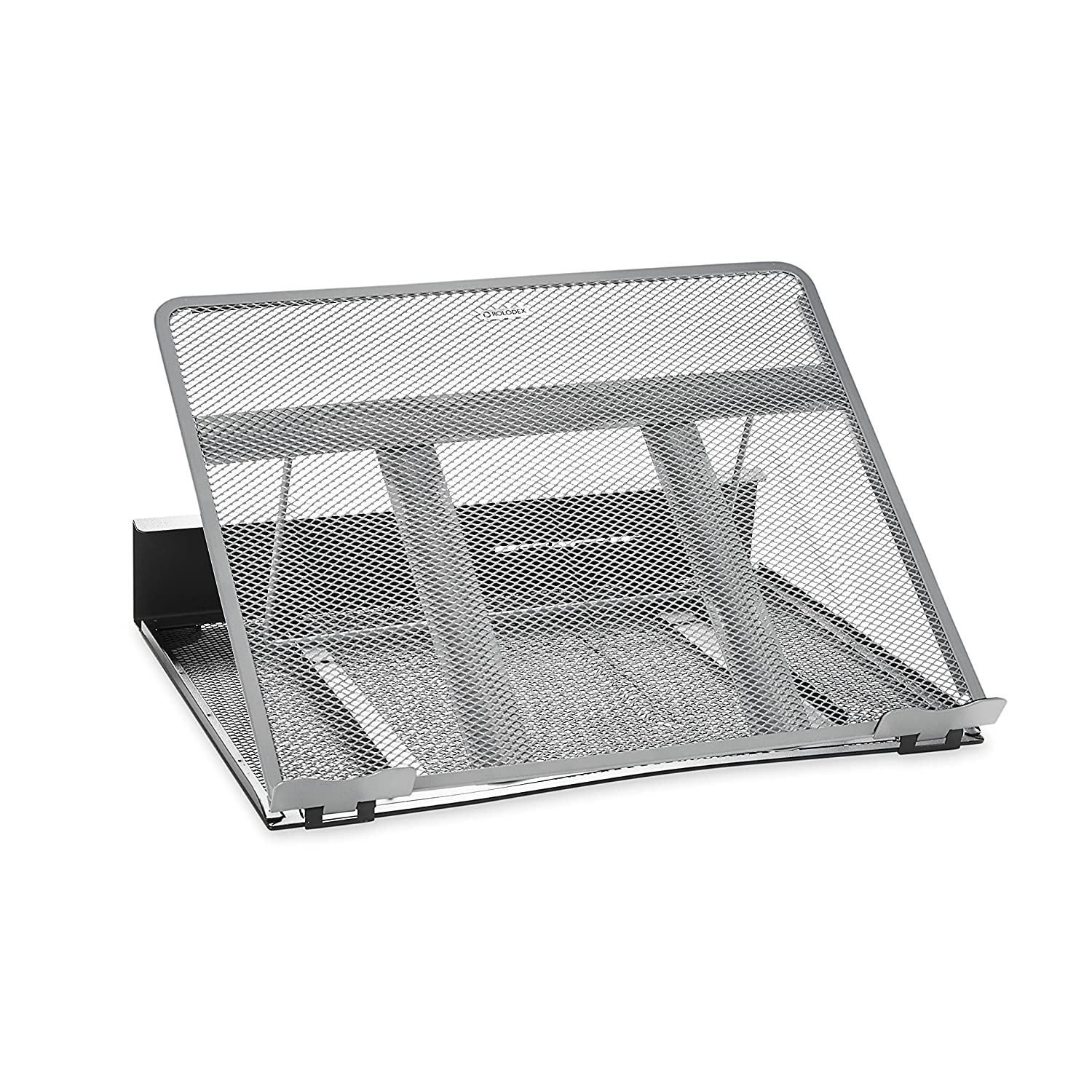 Rolodex Mesh Workspace Laptop Stand, Black/Silver (82410)