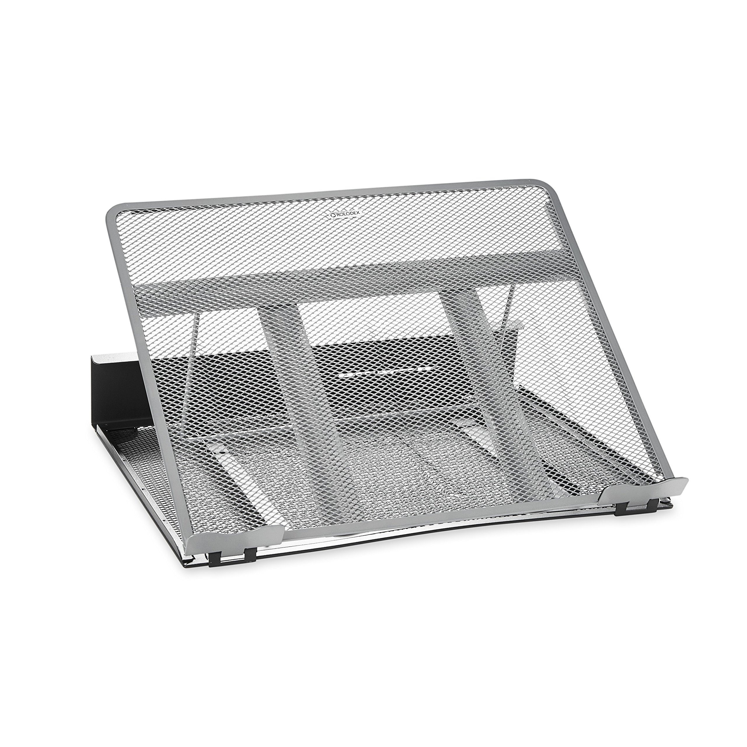 Rolodex Mesh Workspace Laptop Stand, Black/Silver (82410) by Rolodex
