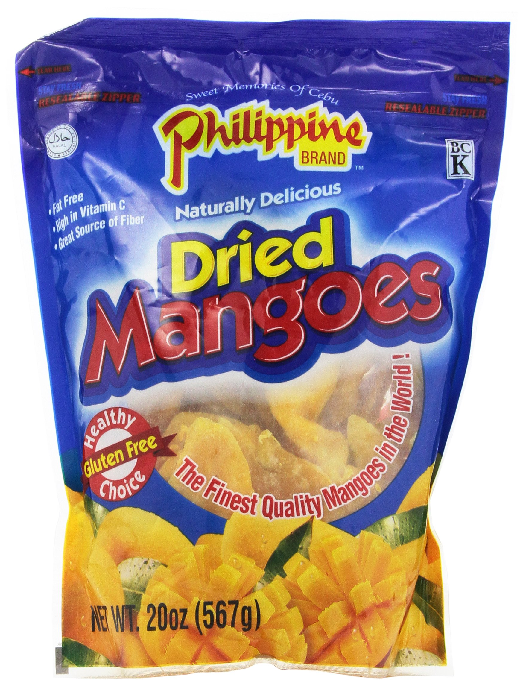 Philippine Brand Dried Mango, 20-Ounce Pouches (Pack of 2)