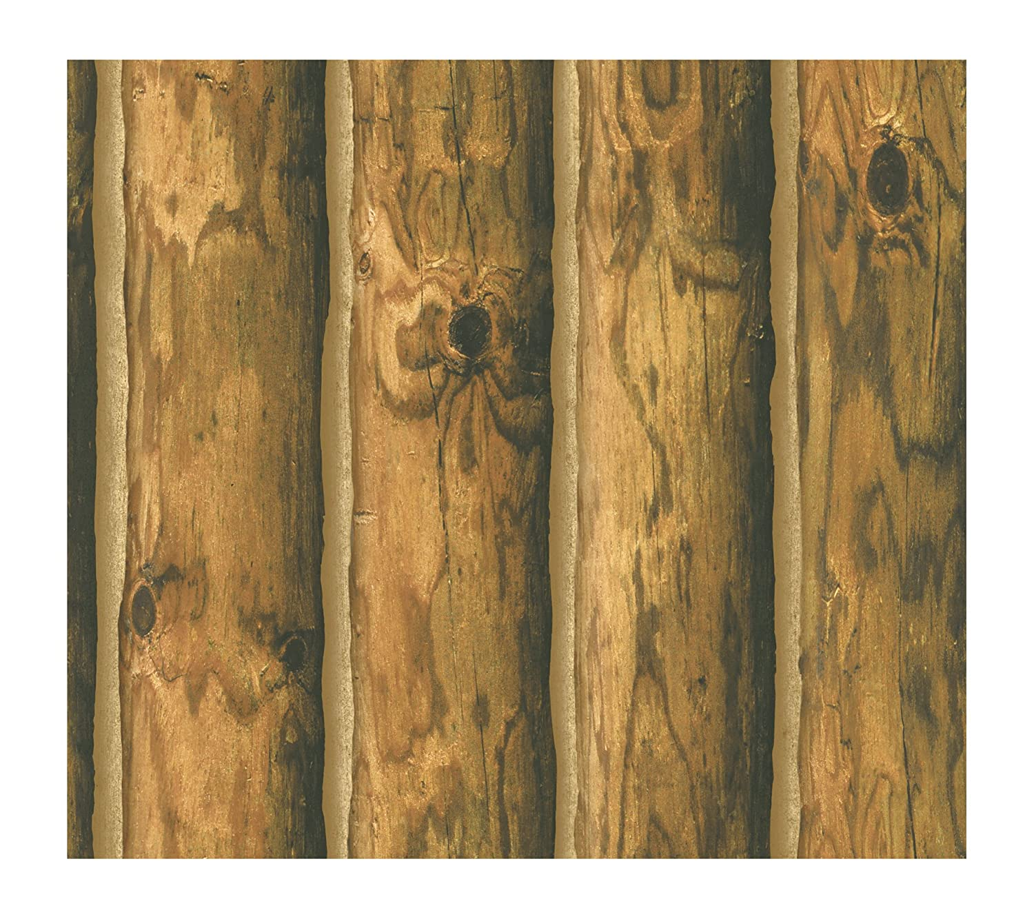 York Wallcoverings CH7980 Lake Forest Lodge Mountain Logs