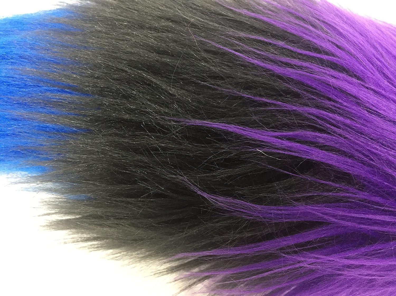 Pride Parade Super Soft Rainbow Faux Fur Handmade Fluidgender Luxury Tail 20 25 30 35 long