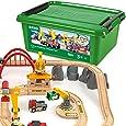 Brio 33097 Cargo Railway Deluxe Set, 54 Pieces Train Set
