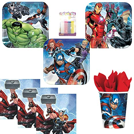 Amazon Marvel Epic Avengers Party Supplies Pack Serves 16