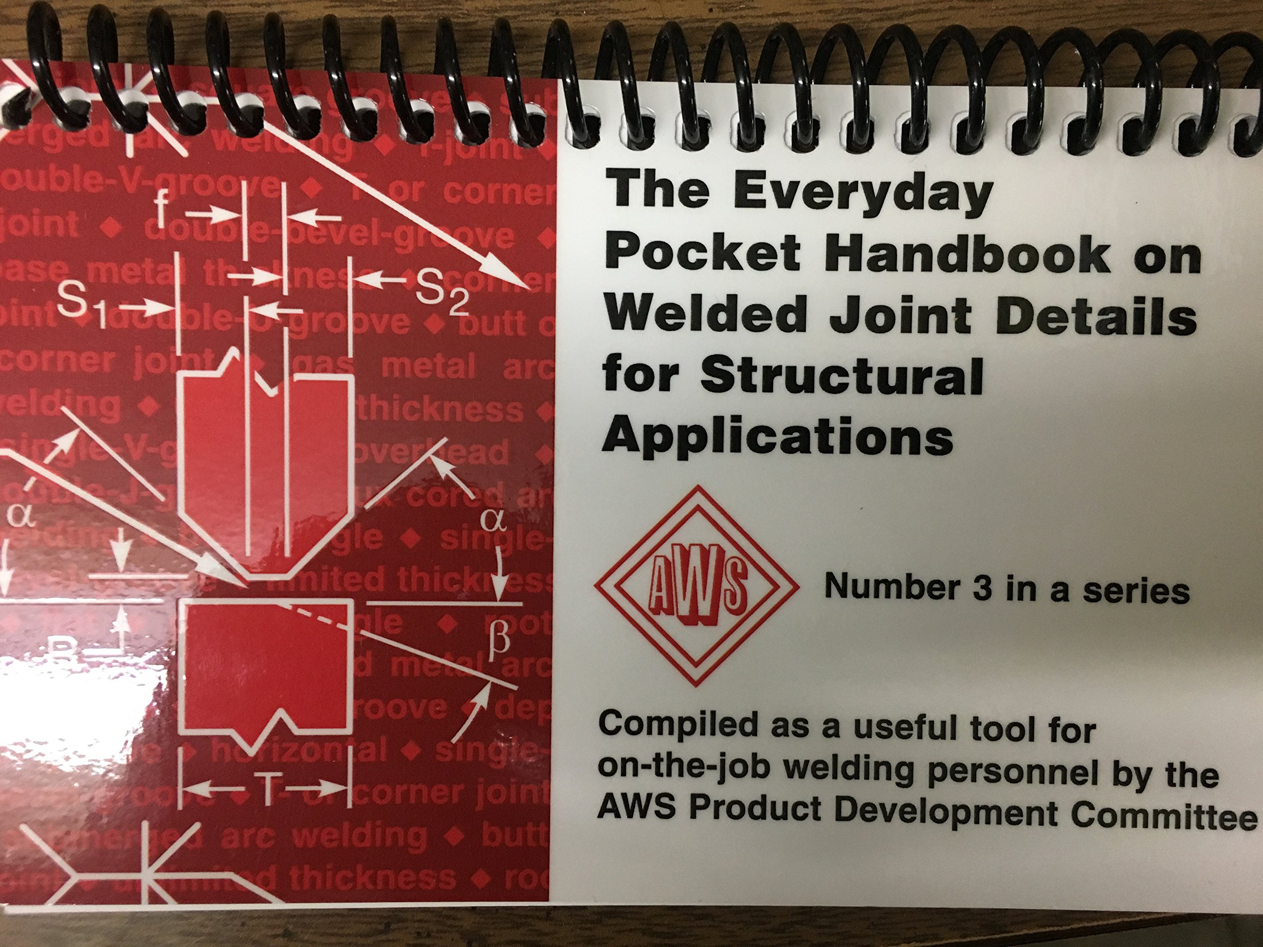 The Everyday Pocket Handbook On Welded Joint Details For Structural Welding Diagram Applications Aws Books