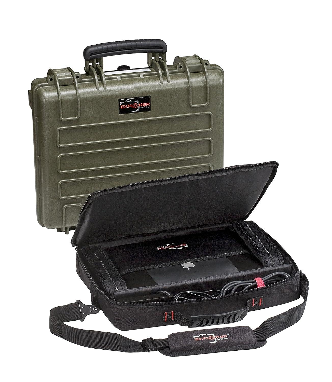 GT LINE エクスプローラーケース 防塵防水トランク(コンピュータバッグ付) 4412.グリーン C B01M9G7OHH