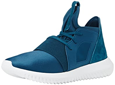 adidas Tubular Defiant, Sneakers Hautes Femme, Turquoise Mineral/Core White, 40 EU