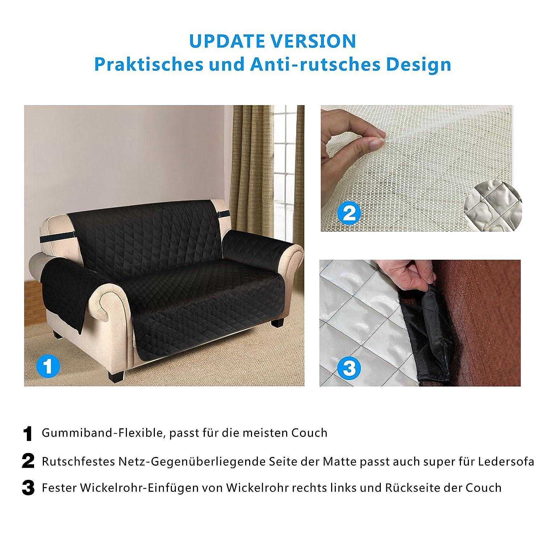 Amazon Puppymate Sofaschoner Sofabezug 3 Sitzer Wasserdicht Anti