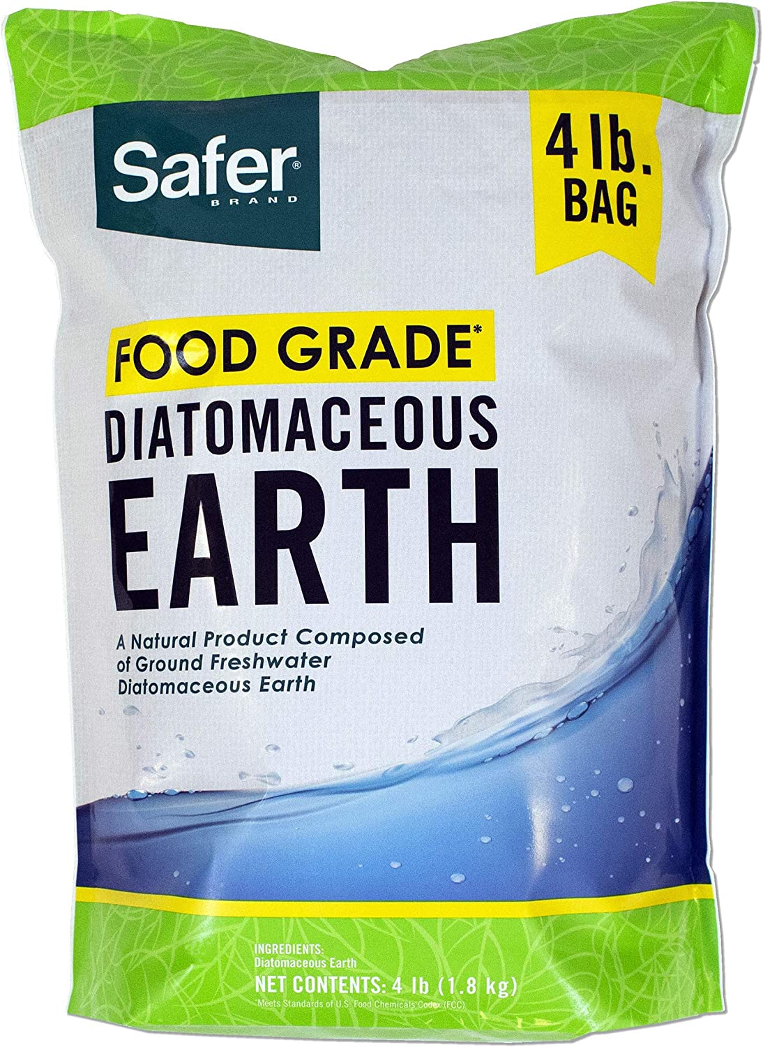 Safer Brand 51704 Food Grade Diatomaceous Earth – 4 lb