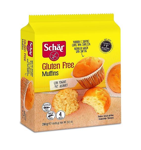 Dr. Schar Muffin Magdalenas - Paquete de 4 x 65 gr - Total: 260 gr - [Pack de 4]