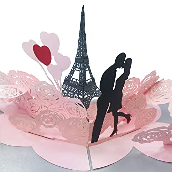 Amazon.com: Amor en Paris – especial 2 capas 3d Pop Up ...