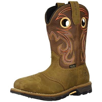 "rish Setter Work Women's Marshall Waterproof Steel Toe 9"" Pull On Boot: Shoes"
