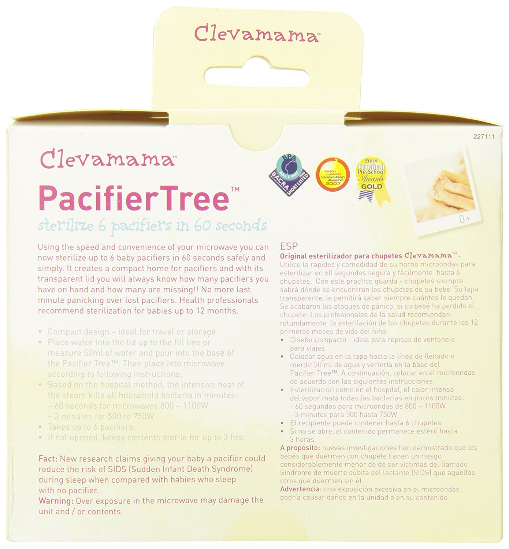 Amazon.com: Clevamama Microondas Baby Pacifier Esterilizador ...