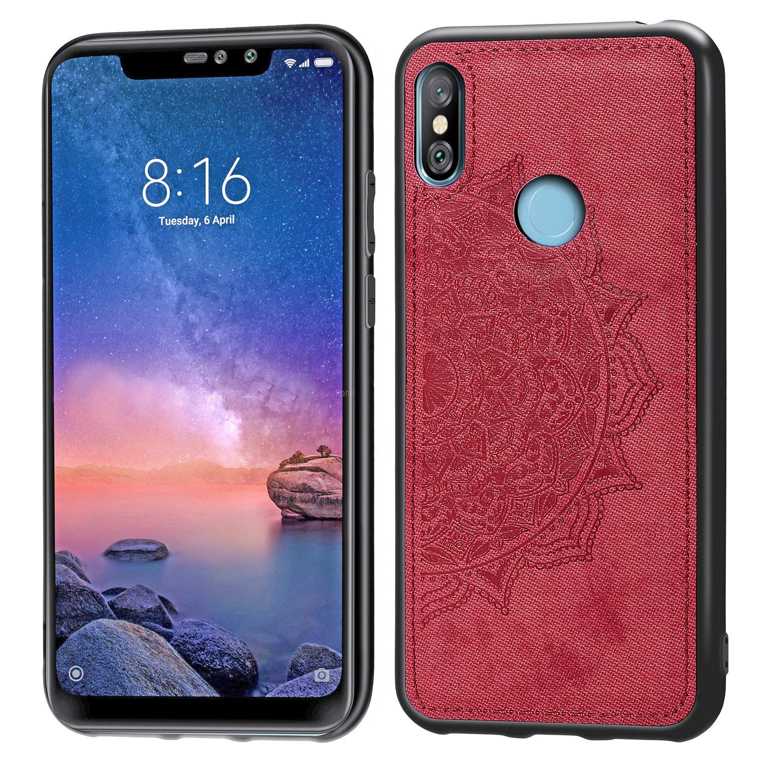 Amazon.com: DAMONDY Xiaomi Mi A2 Lite,3D Pattern Mandala ...