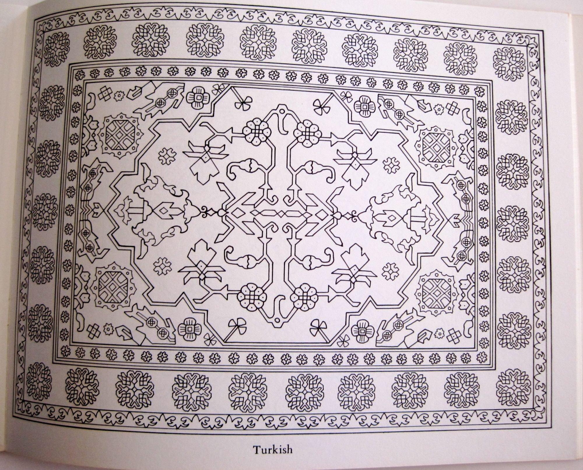 Rug coloring page designfacebookcover for Navajo rug coloring page