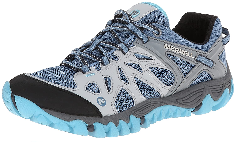Merrell Women's All Out Blaze Aero Sport Hiking Water Shoe B00KZIVNEO 6.5 B(M) US|Blue Heaven
