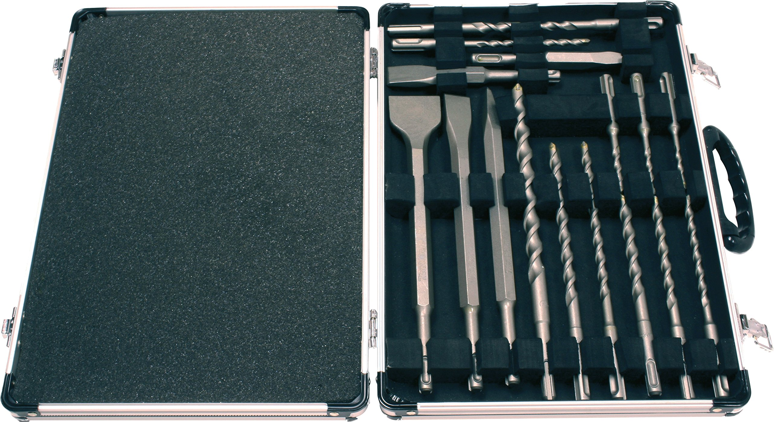 Makita Drill Set SDS Plus Bits Chisel Hammers 17 Pc in Aluminum Carry Case D-21200