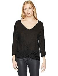 50e49b9ff2c41 Three Dots Women's Sparkle Sweater Loose Mid Shirt
