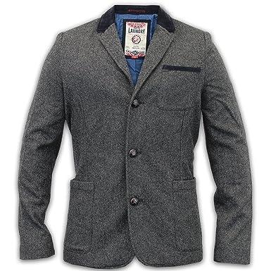 Veste en tweed gris homme