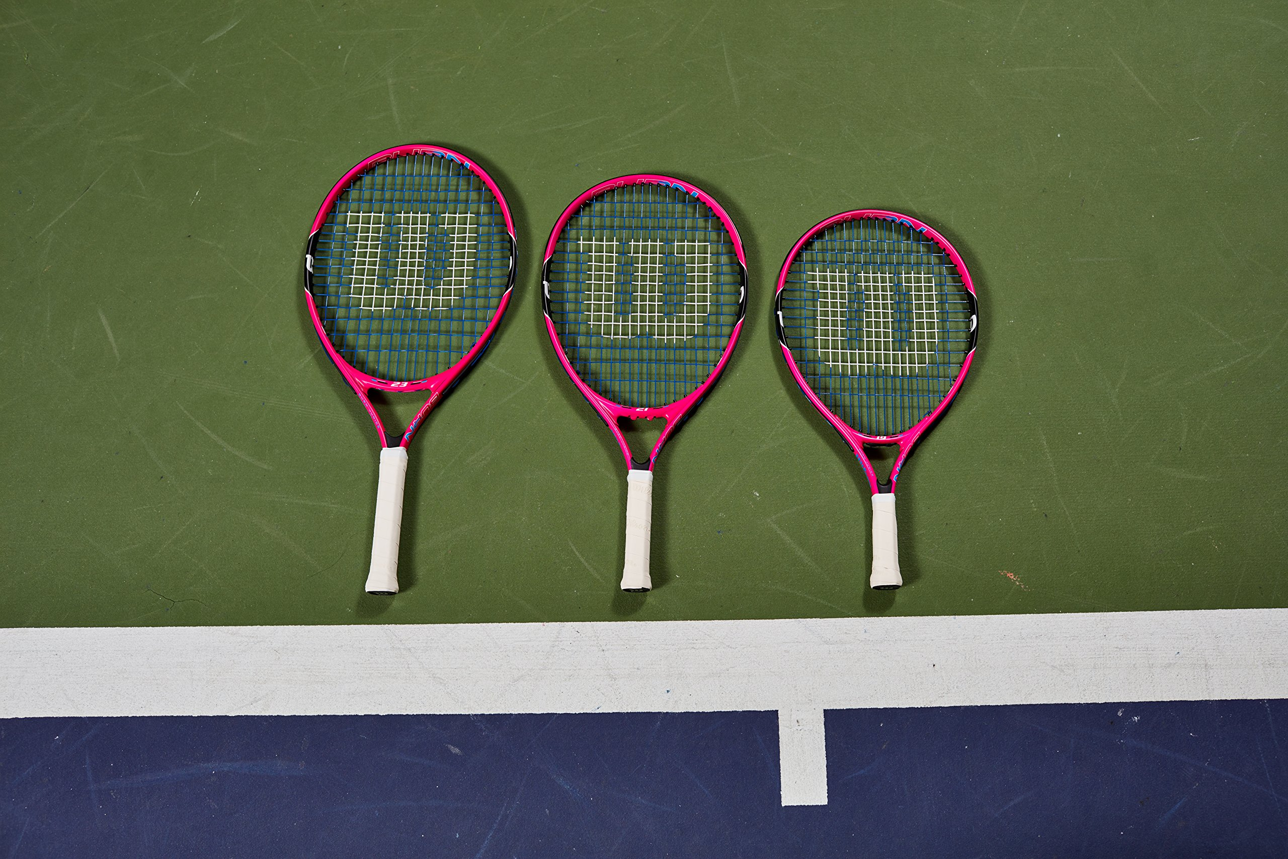 Wilson Junior Burn 19 Tennis Racquet, Pink by Wilson (Image #6)