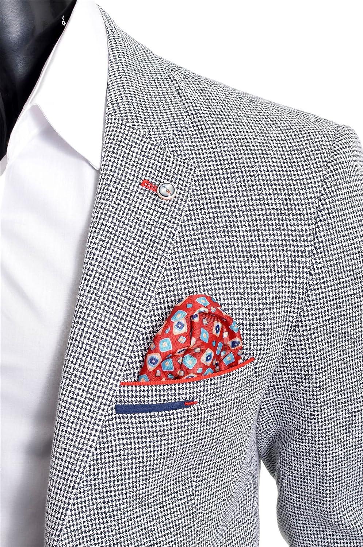 Mens Blazer Jacket Casual Formal Herringbone Pattern 9 Colours UK Size Cotton