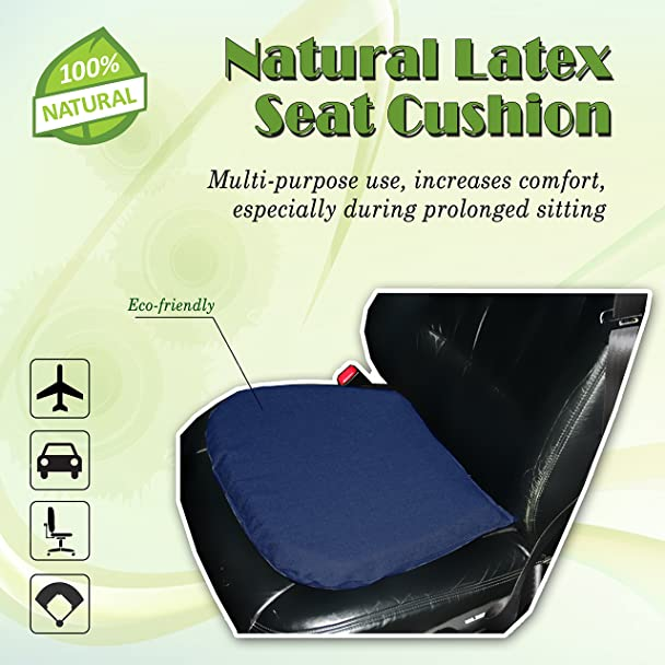 Amazon.com: 100% Natural Latex Seat Cushion With Organic Cotton Covering:  Home U0026 Kitchen