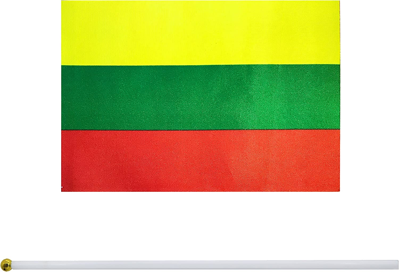 Kind Girl - Bandera de mano con diseño de bandera pequeña y bandera redonda de la parte superior de la bandera nacional (50 unidades): Amazon.es: Jardín