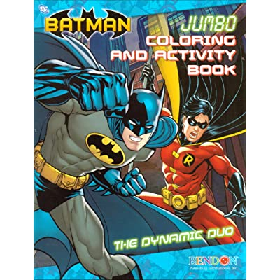 Batman Jumbo Coloring and Activity Book: Toys & Games