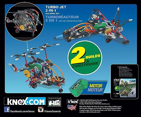 KNex Imagine Turbo Jet 2 en 1 Set de construcción para Edades 7 +, Juguete Educativo de ingeniería, 402 Piezas: KNex: Amazon.es: Juguetes y juegos