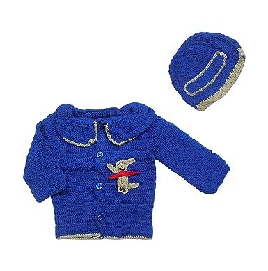 Sr Handicrafts Baby Boys Wool Sweater Sh048 6 12 Months Blue 6