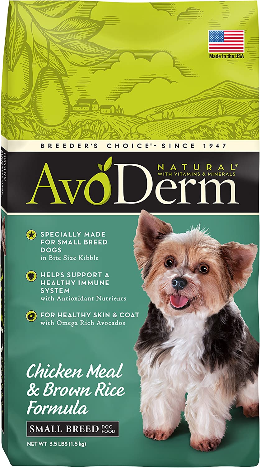 3. AvoDerm Small Breed Adult Dry Dog Food