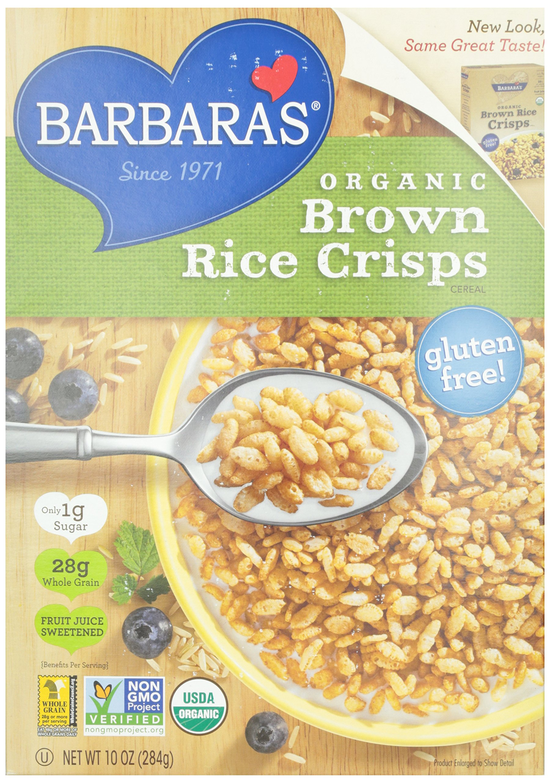 Barbara's Bakery Organic Brown Rice Crisps Cereal, 10 oz