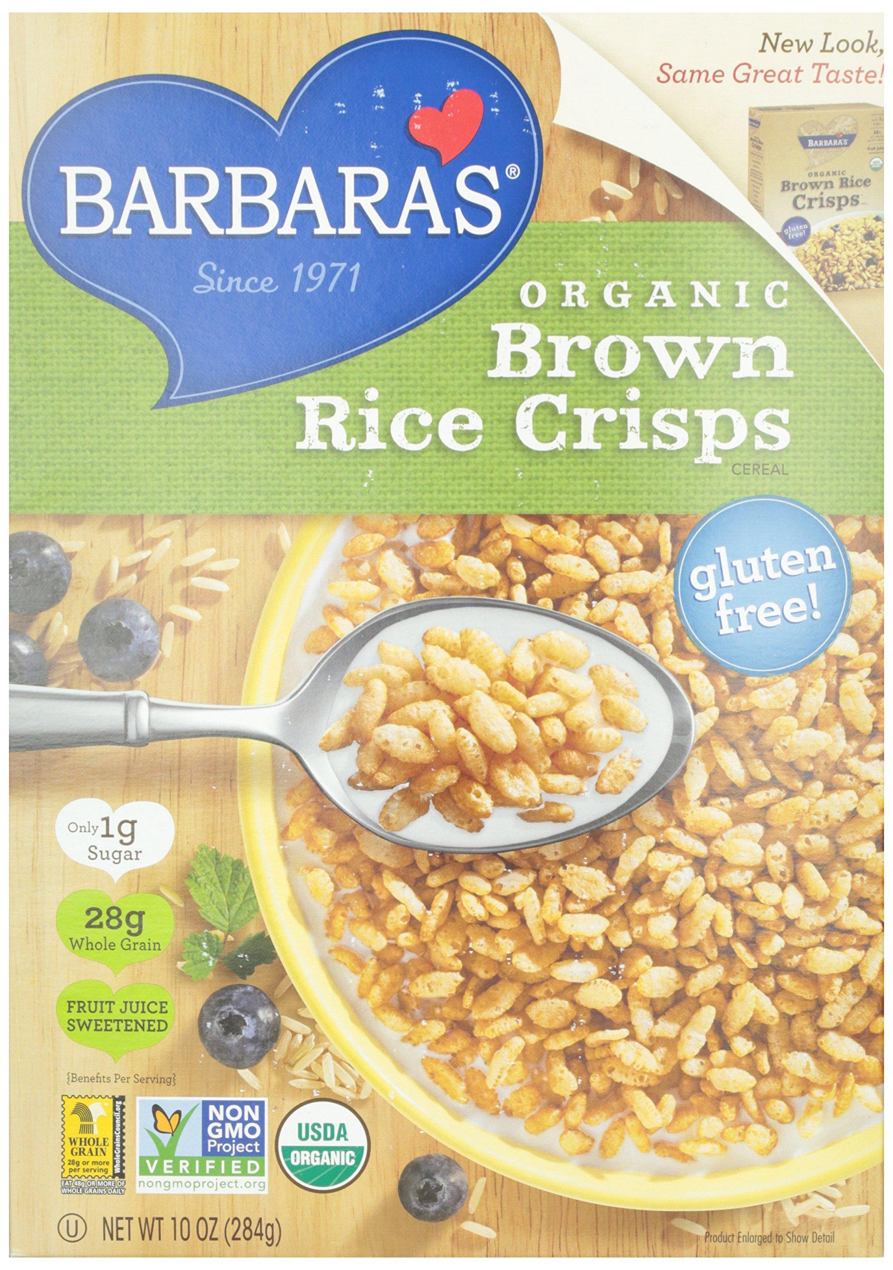 Barbara's Bakery Organic Brown Rice Crisps Cereal, 10 oz by Barbara's Bakery