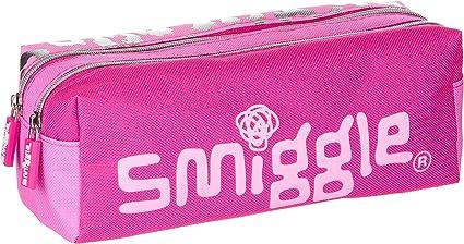 Smiggle Estuche Doble con Cremalleras para Niños y Niñas de la Colección Block con 2 Compartimentos con Cremallera | Rosada: Amazon.es: Oficina y papelería