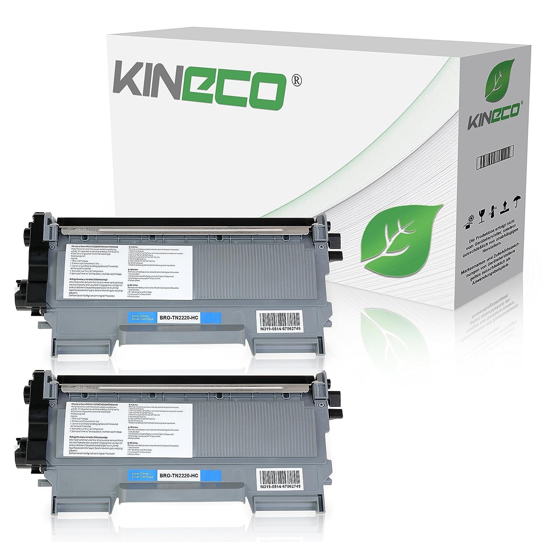 Kineco 2 Toner kompatibel für Brother TN-2220 DCP-7060 7065 7070 ...