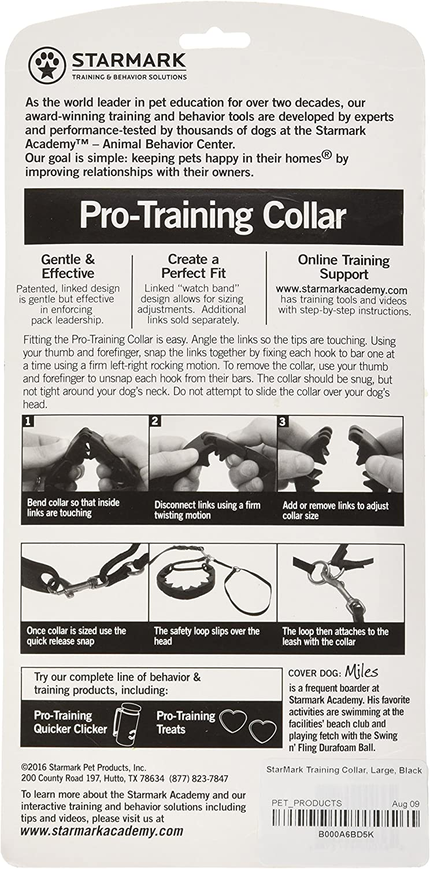 StarMark Pro-Training Dog Collar Large Pack of 2