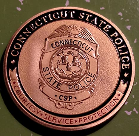 Connecticut State Police Challenge Art Coin