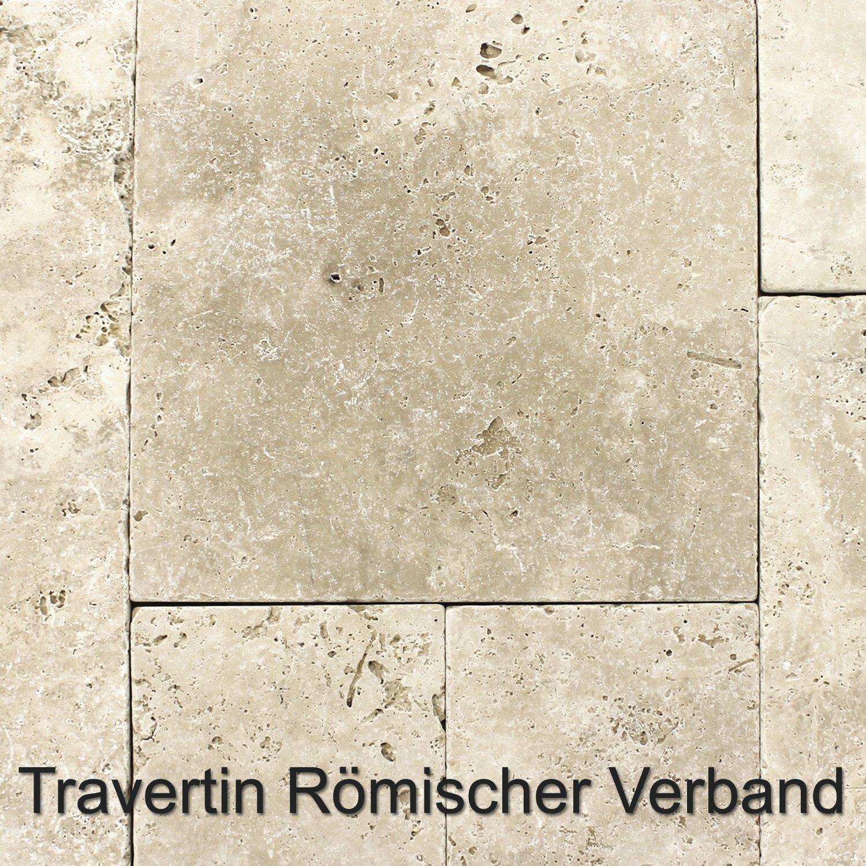 Naturstein Travertin Fliesen Römischer Verband Classico Beige ...