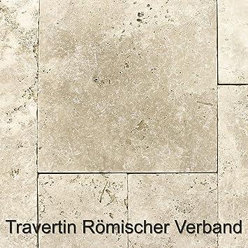 Naturstein Travertin Fliesen Romischer Verband Classico Beige