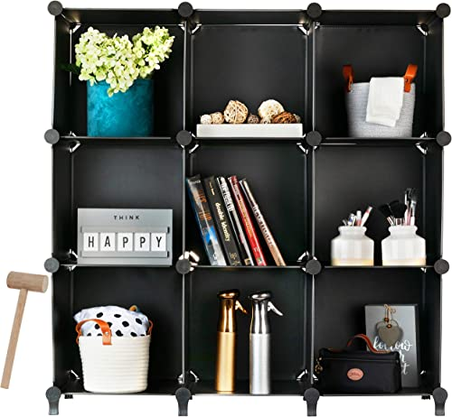 Best modern bookcase: Homeries Cube Storage System Modular DIY Plastic Closet Organizer Rack