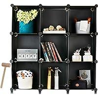 Homeries Cube Storage System (9 Cubes) – Modular DIY 9-Cube Plastic Closet Organizer Rack, Storage Shelves, Bookshelf…